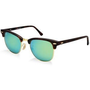 Ray-Ban Accessories - Ray-Ban Green Flash Lens Clubmaster Sunglasses
